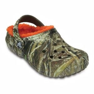 CROCS Kids Size C-12 Max 5 Camo Winter Clogs NWT